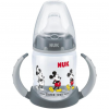 NUK Disney Mickey Mouse First Choice Trinklernflasche, grau